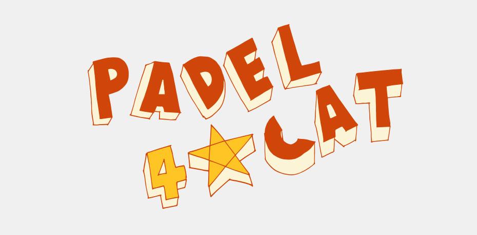 padel4cat logo - design by jordi boix