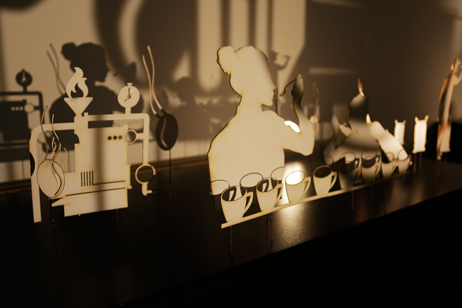 nespresso zinemaldia 2015 instalacion - design by jordi boix