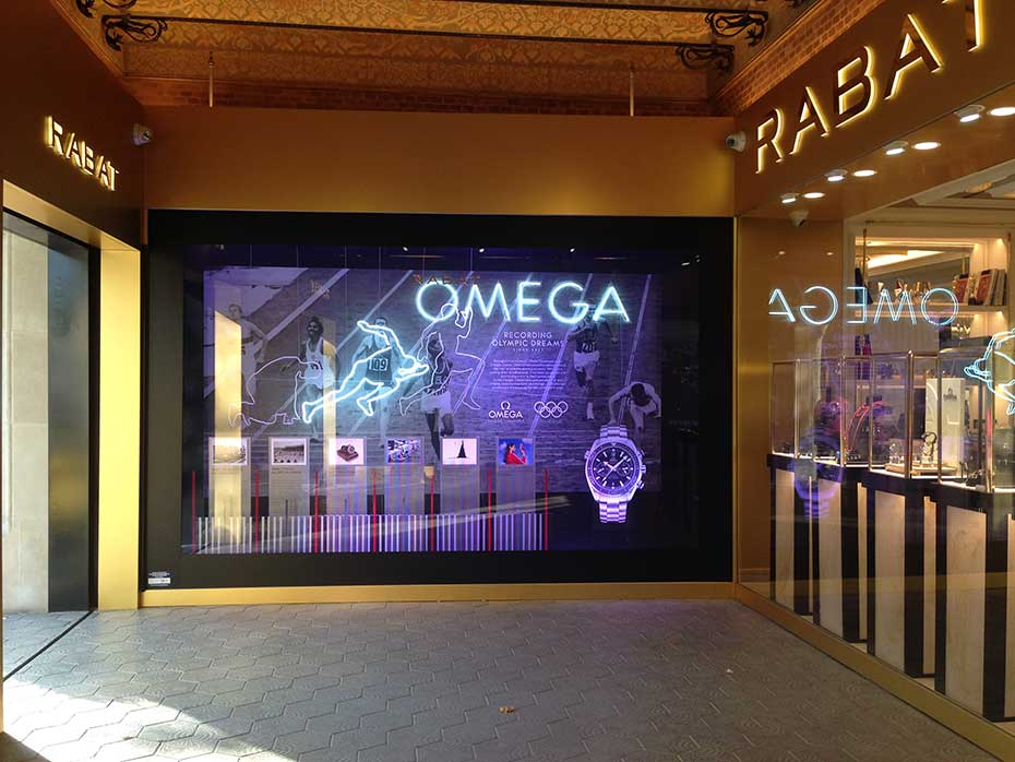window shop omega joyeria rabat design by jordiboix